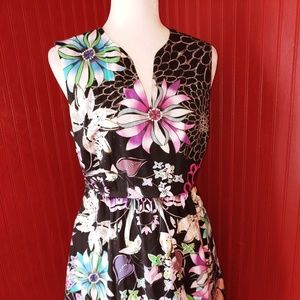 NWOT Cynthia Rowley Floral Dress 8